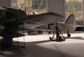 In der Werft, mit Spindelböcken von Airmodel