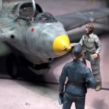 Me 163-Preiser Luftwaffe Figur Offizier Pilot 1-72