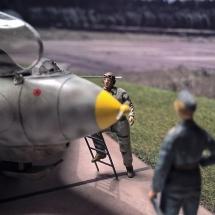 Me 163-reiser Luftwaffe Figur Offizier Piloten 1-72