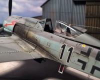 Detailansicht des Cockpitbereiches FW-190 F8 Eduard
