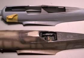 Vergleich der beiden fast identischen Bausätze D9 von AZ und die D11 von RV Aircraft unten