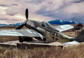 Fertiges Modell der FW-190 D9 von AZ-Modell als Rollout