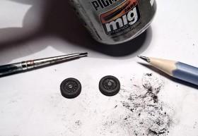 Graphit und mig Pigmente für die Räder