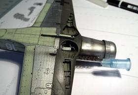 Kanüle in 0,6mm zum Aufbohren der MG Öffnungen in den Tragflächen