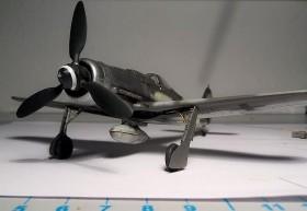 Die silberne Nase, lackiert mit Alclad Airframe Aluminium