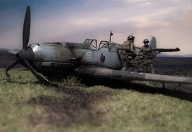 Airfix-Bf-109E-Crash-01