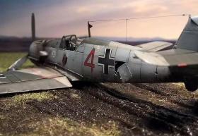 Airfix-Bf-109E-Crash-03